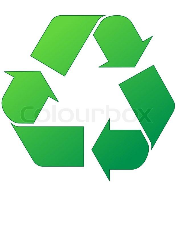 green recycle symbol stock vector colourbox