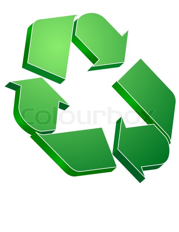 Green Recycle Symbol Stock Vector Colourbox