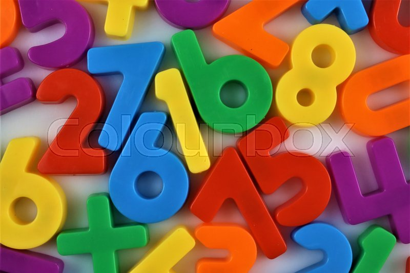 Stock Bild von 'An concept Image of magnetic numbers'