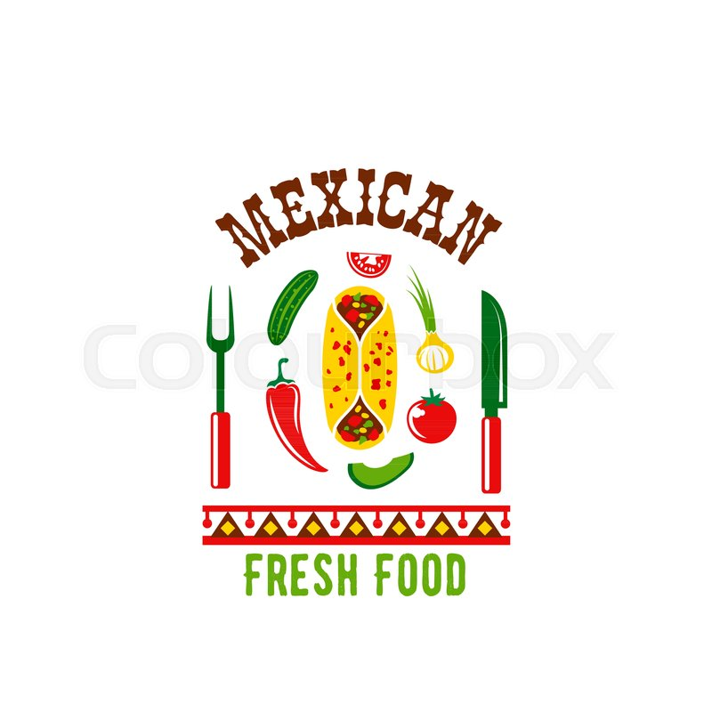 Mexican cuisine icon design template for Mexico restaurant or food ...