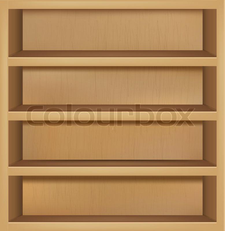 Empty Bookshelf Vector Images