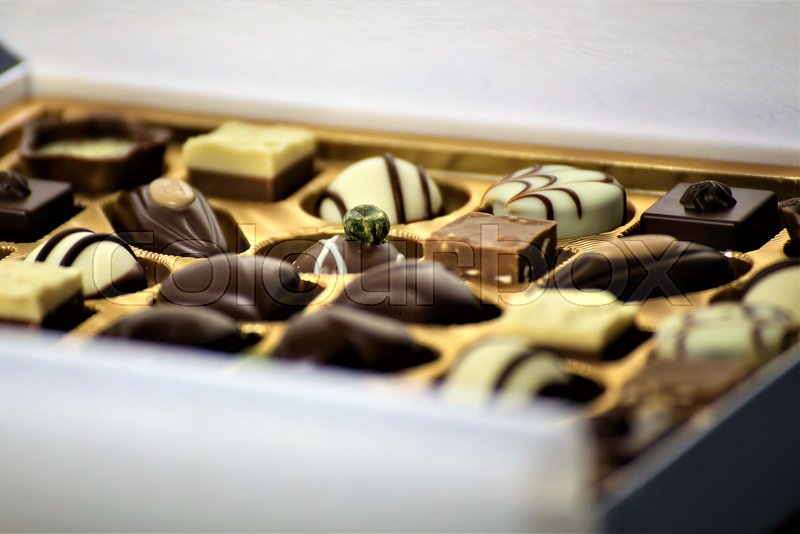 Stock Bild von 'An concept Image of some chocolates pralines'