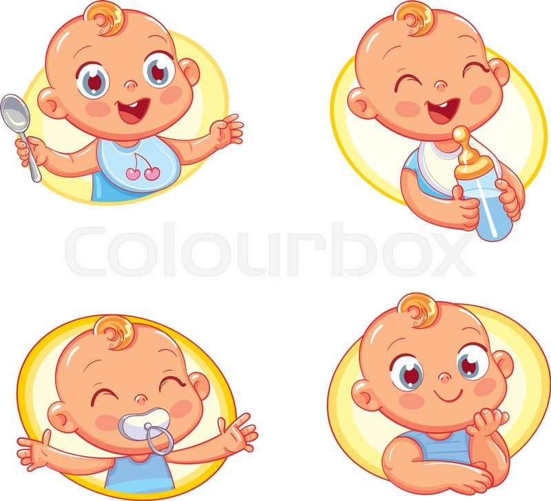 Happy Smiling Newborn Boy Or Girl Collection Of Toddler Portraits - Toddler-cartoon-characters