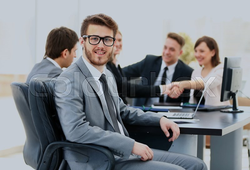Stock Bild von 'business, kaukasier, portrait'