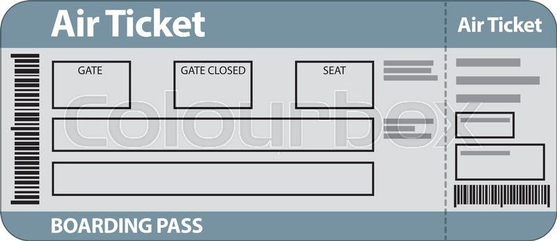 illustration of air ticket template for travel stock vector