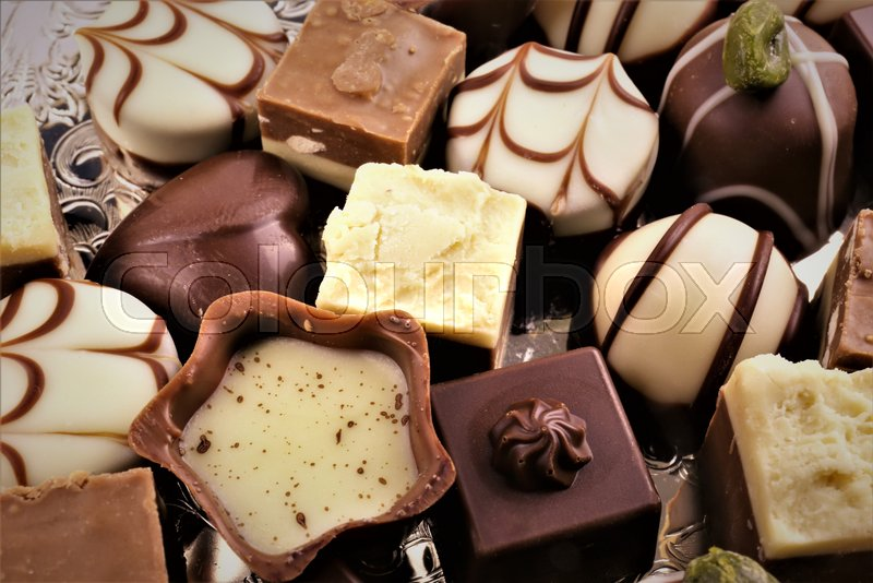 Stock Bild von 'An concept Image of some chocolate pralines'