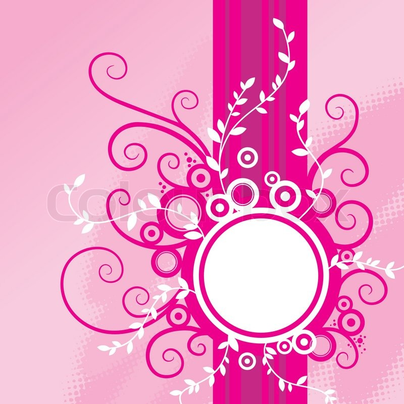Abstract pink floral background with frame stock vector colourbox mightylinksfo