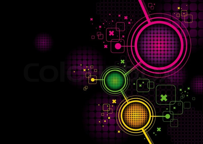 Futuristic Hi Tech Background Vector: Vector Abstract Futuristic Hi-tech ...