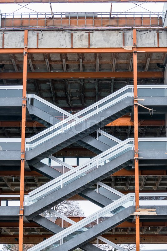 Shell with staircase, symbolism for, symbol of construction project, symmetry, career ladder, stock photo