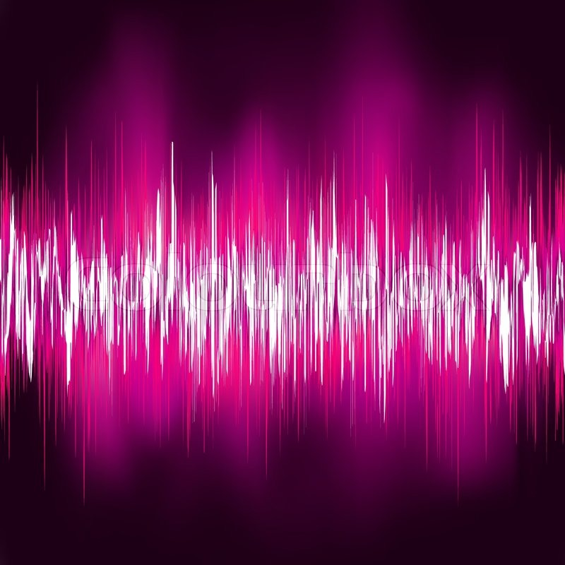 Pink Sound Waves Vecto...