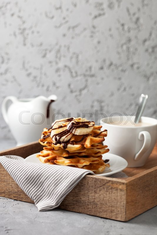 Stock Bild von 'waffel, kalorie, background'