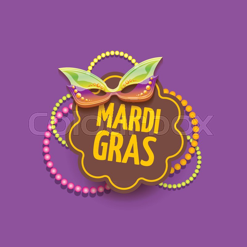 vector new orleans mardi gras vector background with carnival mask