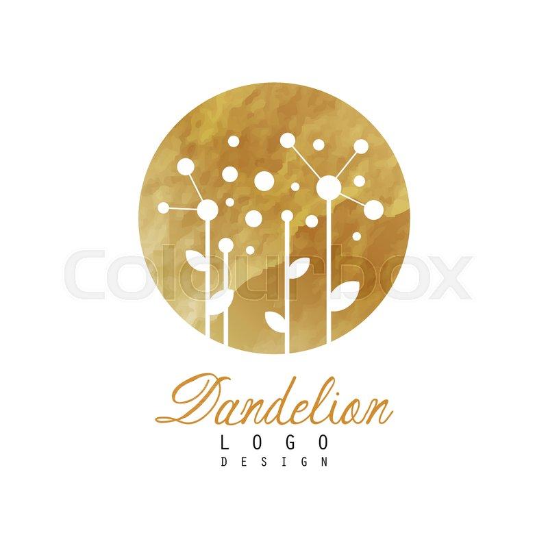 Abstract Logo Design With Dandelion On Stock Vector Colourbox