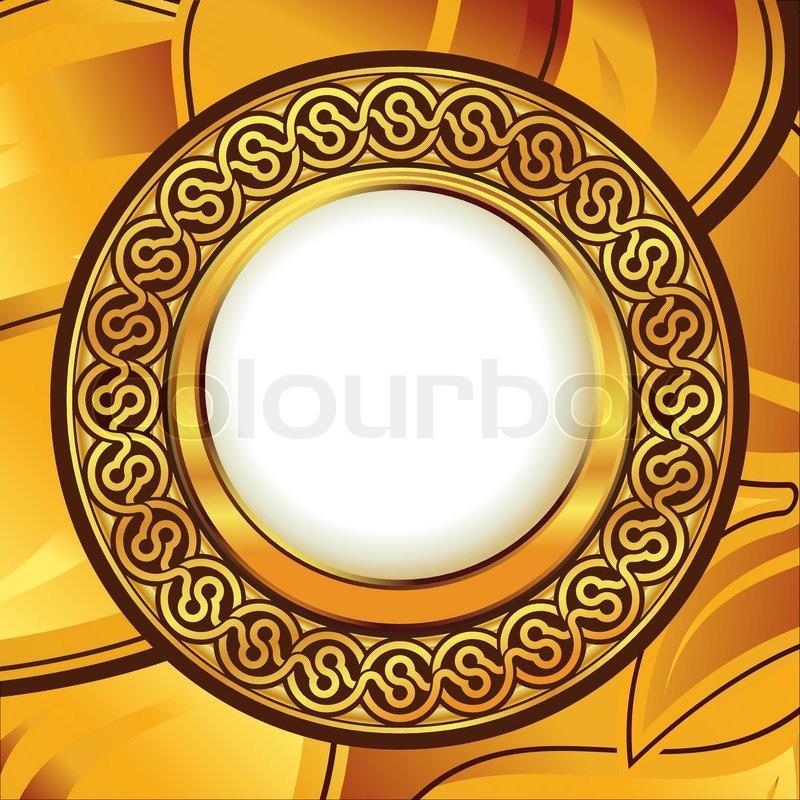 gold frame border vector.  Gold Gold Frame With Ornamental Border Vector With Frame Border Vector