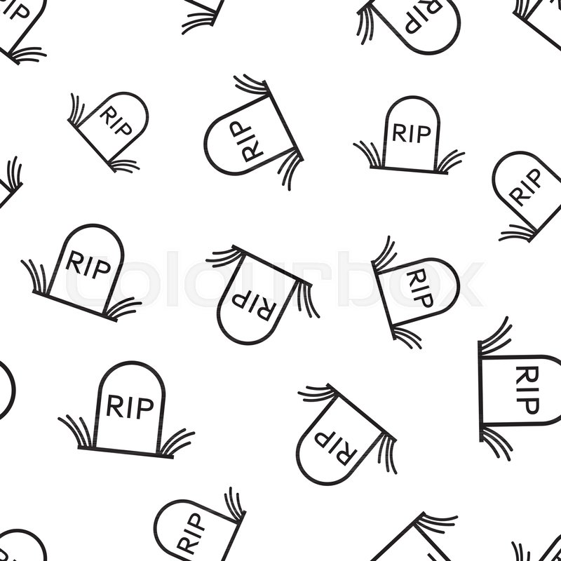 Excellent Halloween grave seamless pattern background. Business flat vector  GL77