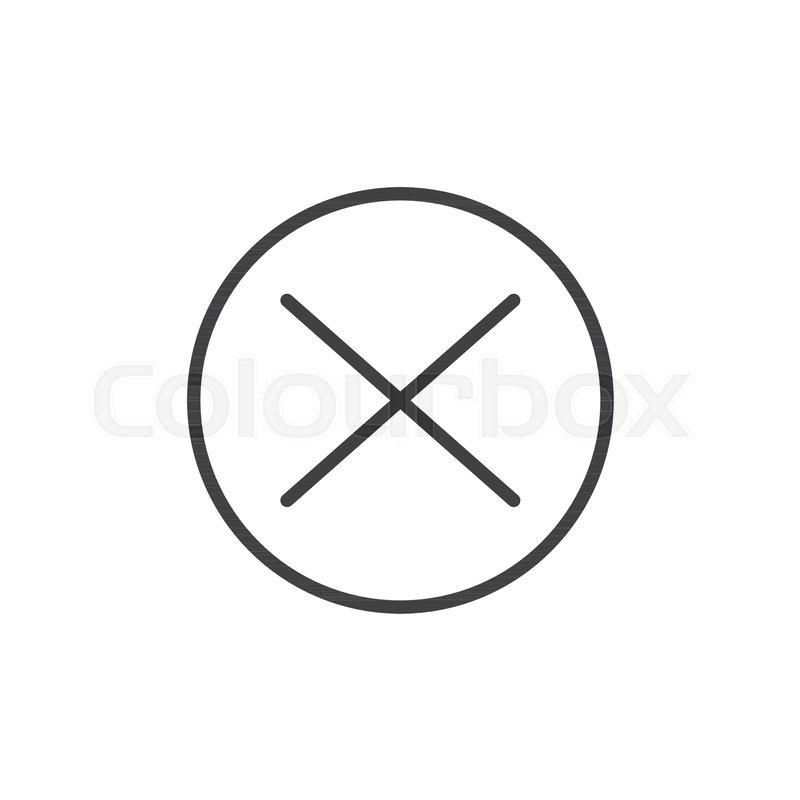 Wrong mark line icon, outline vector     | Stock vector