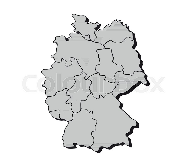 Map Of Germany With Regions.Map Germany With Regions Stock Vector Colourbox