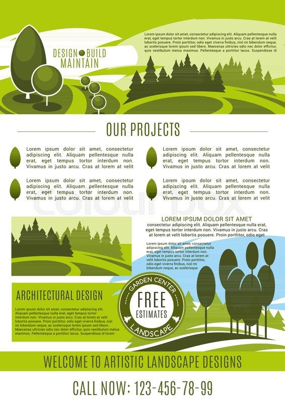 Landscape design, build and maintain service company poster design ...