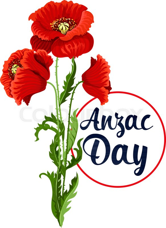 Anzac Day Poppy Bunch Icon For War Commemorative Day Of Australia
