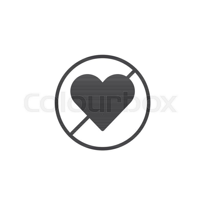 Forbidden Love Icon Vector Filled Flat Sign Solid Pictogram