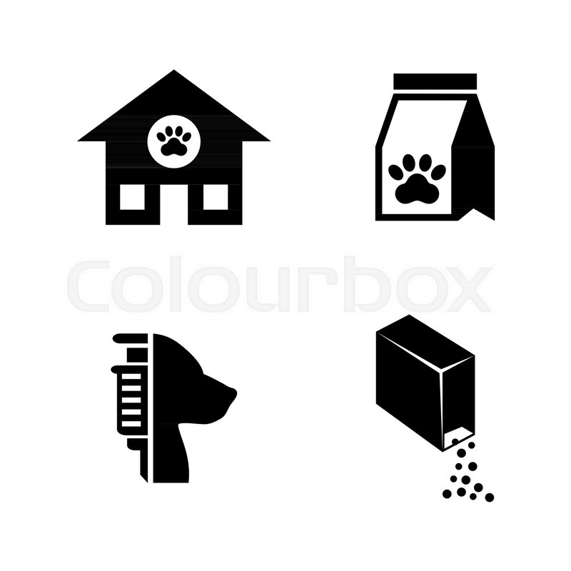 Animal Shelter  Simple Related Vector     | Stock vector