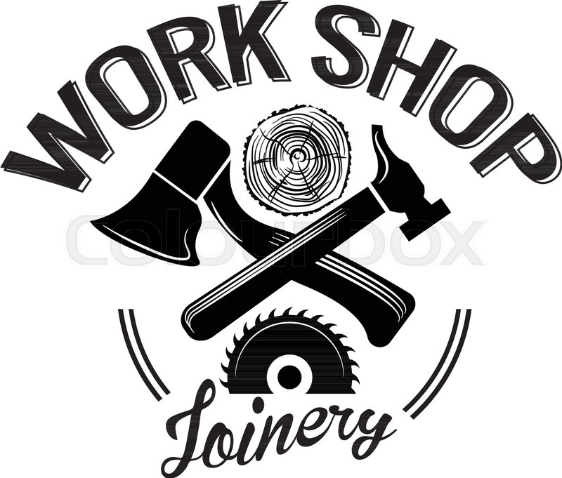 Wood Shop Vintage Carpentry Tools Stock Vector Colourbox