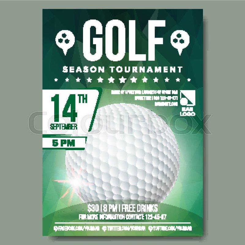 Golf poster vector golf ball vertical design for sport bar golf poster vector golf ball vertical design for sport bar promotion tournament championship flyer design golf club flyer invitation label stopboris Choice Image