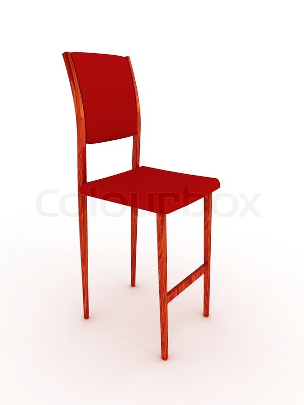3069466 High Wooden Chair Isolated On White Background Jpg