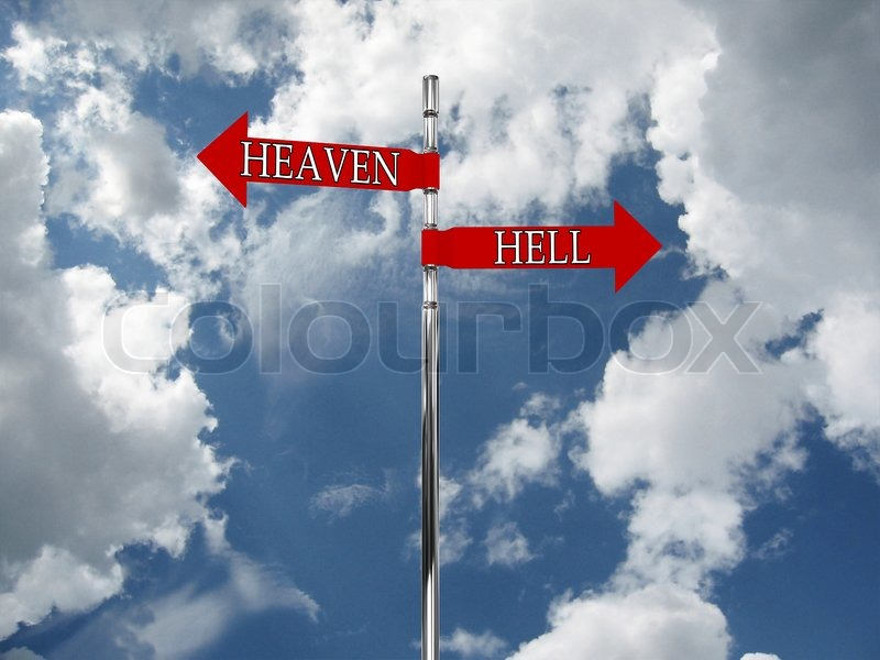 3069638 747361 road sign in the heaven and hell against the sky