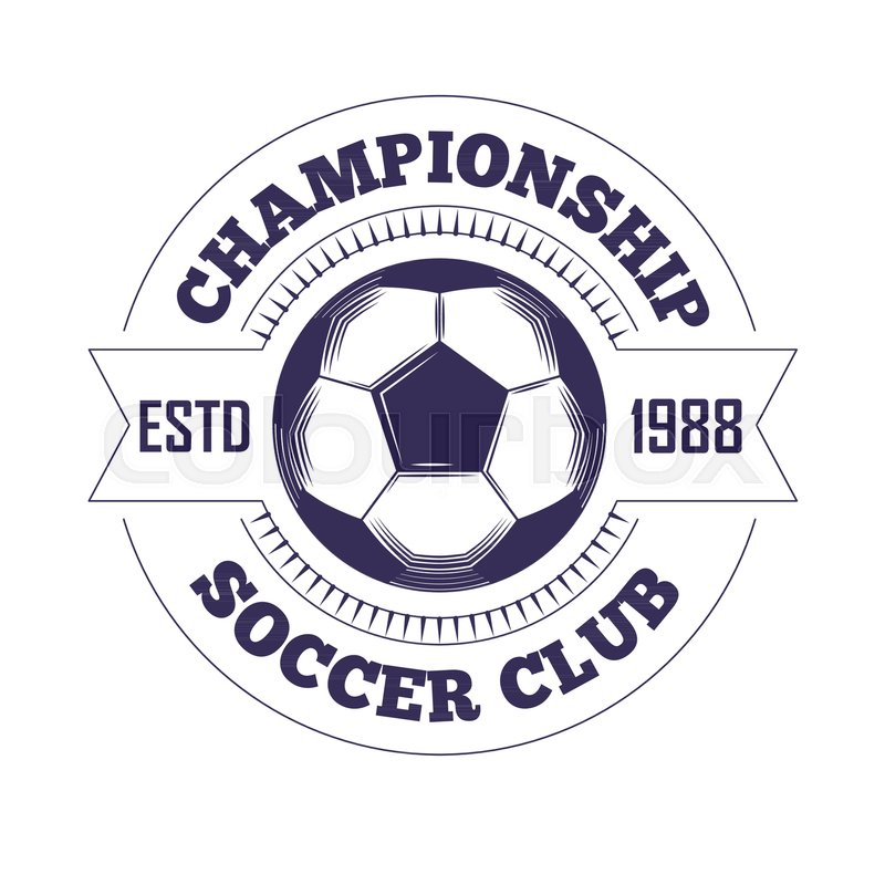 Soccer club or football league championship cup logo template ...