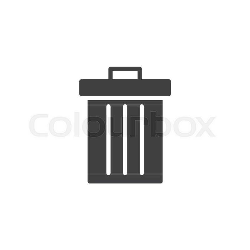 Figure Of Person Throwing Garbage Into A Trash Can Isolated On White Background Stock Vector Colourbox