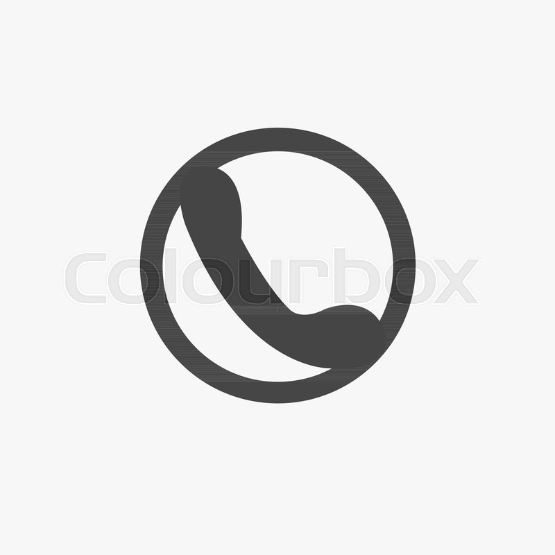 Phone Icon In Trendy Flat Style Isolated On Grey Background Handset