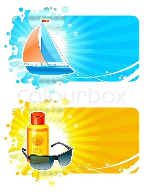 Resort & travel vector frames | Stock Vector | Colourbox