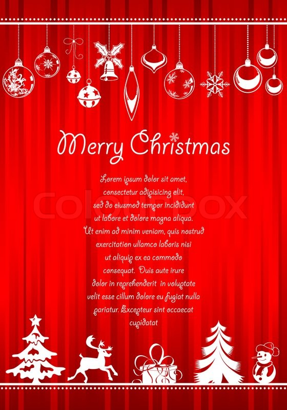 Christmas greeting card with lots of christmas items stock photo christmas greeting card with lots of christmas items stock photo colourbox m4hsunfo