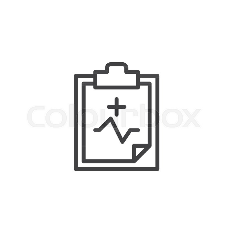 Health Check Line Icon Outline Vector Sign Linear Style Pictogram