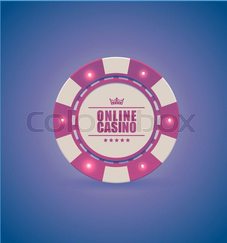 Vector Red White Casino Poker Chip Stock Vector Colourbox