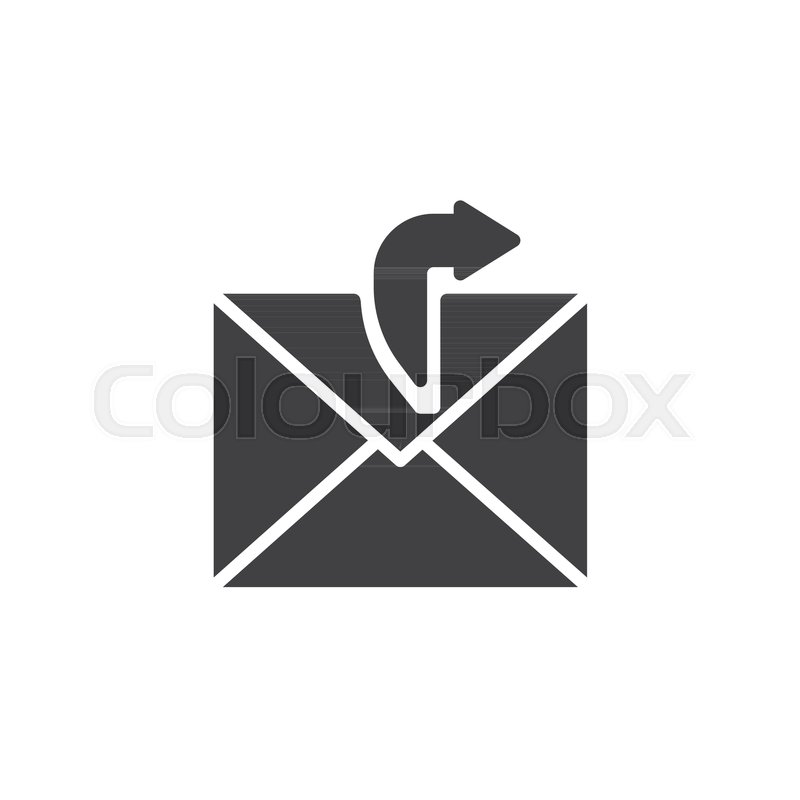Sending Email Icon Vector Filled Flat Sign Solid Pictogram