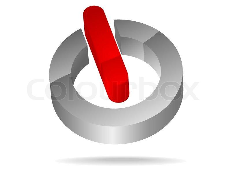 Vector Schalter Ein-Aus- Symbol | Vektorgrafik | Colourbox