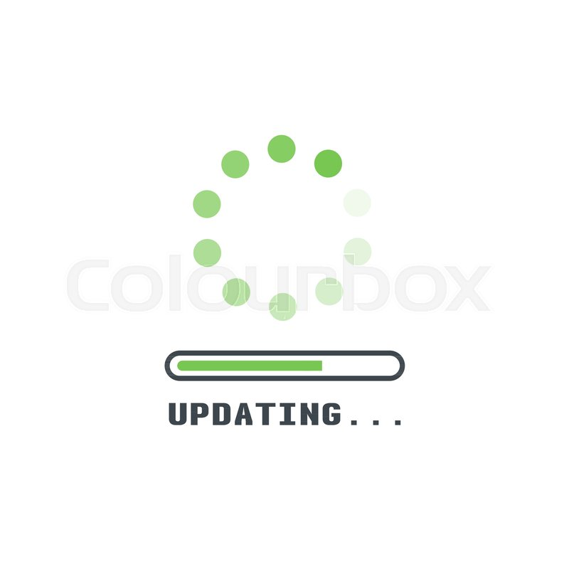 Updating Software Icon Circle With Transparent Circling And