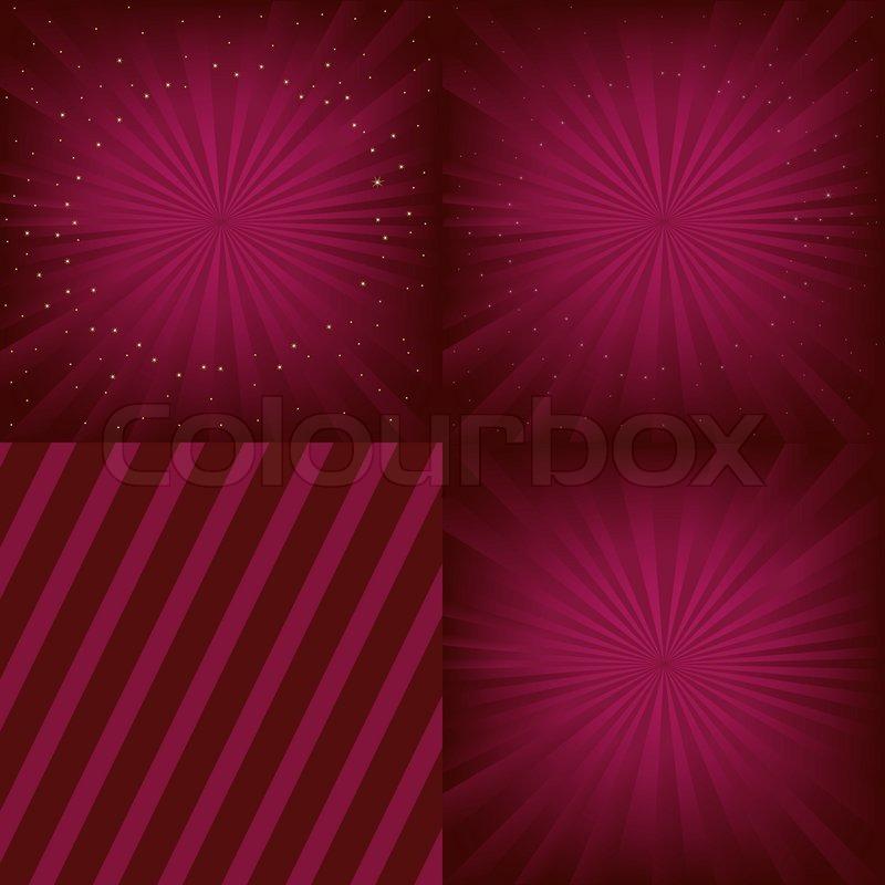 4 luxury background set  vector illustration