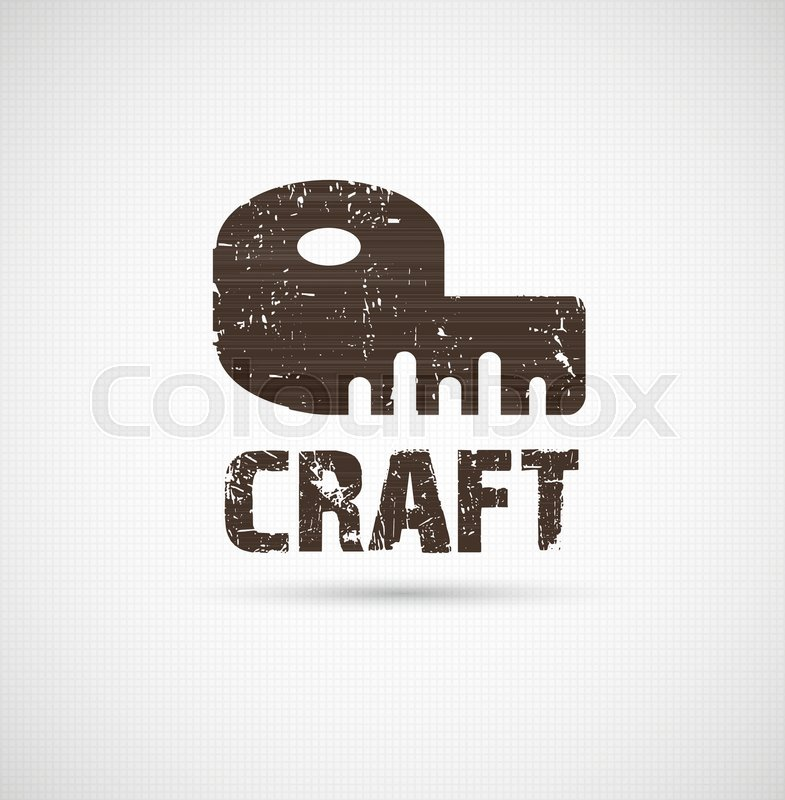 Craft Logo Business Idea Tool Of Stock Vector Colourbox