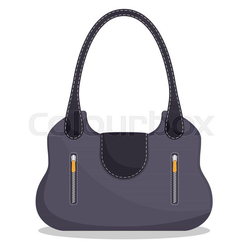 9d616c8761 Stylish colorful leather handbag with ...