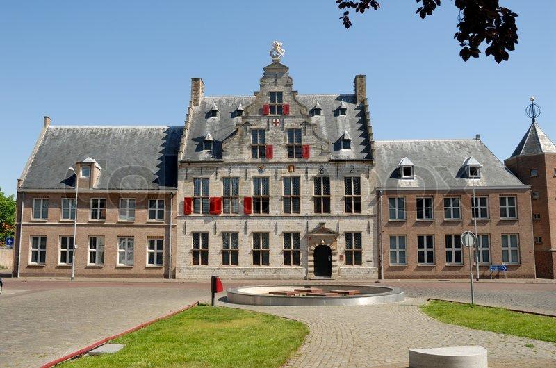 middelburg holland medieval building in the netherlands nederland restaurants
