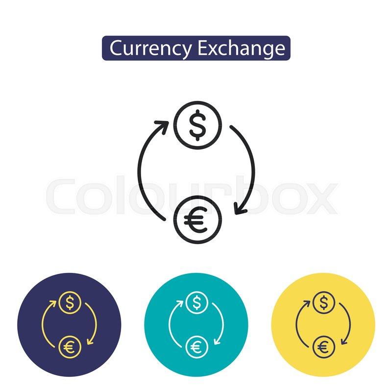 Exchange Icon Money Circulation Currency Exchange Sign Isolated On
