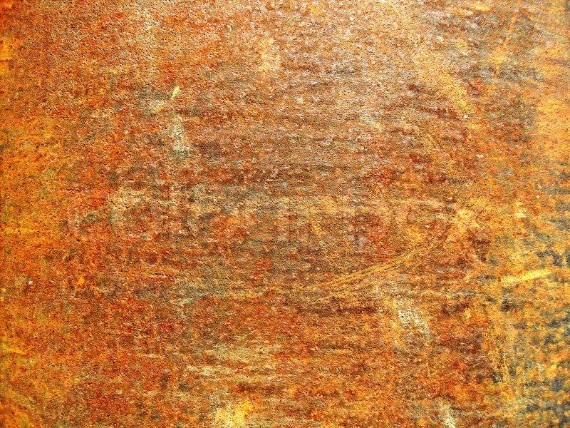 Eine Verrottete Blech In Rost Bedeckt Stock Bild Colourbox