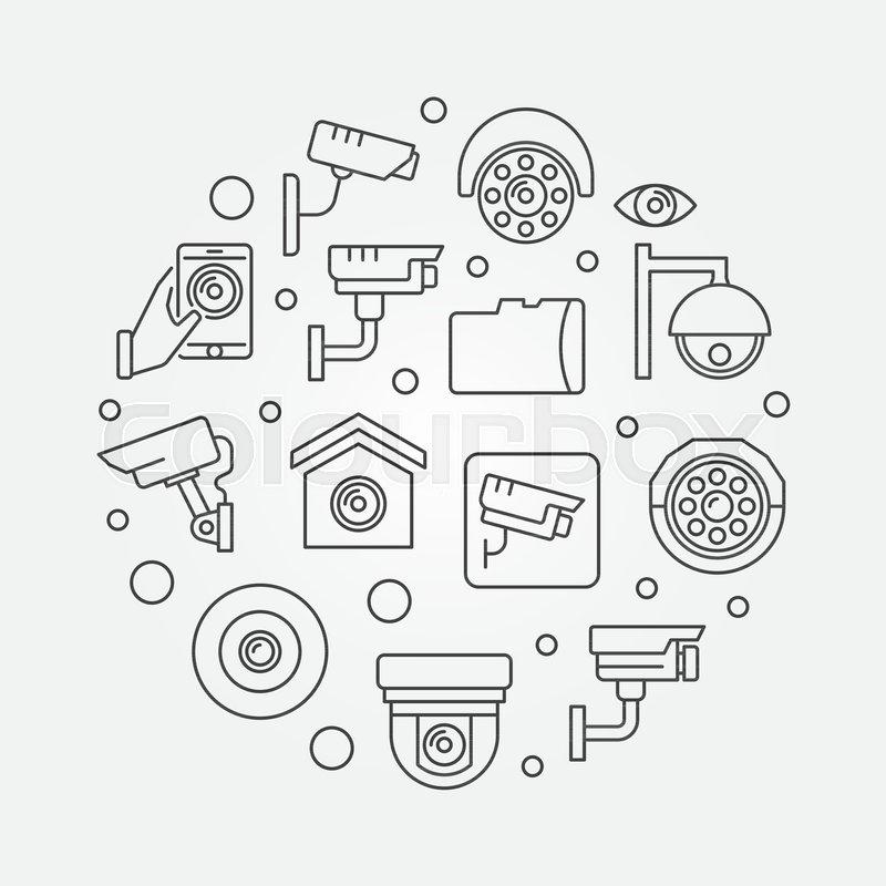 Cctv Video Security Cameras Concept