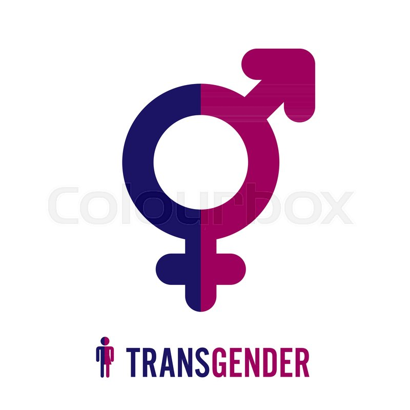Transgender Icon Symbol Combining Gender Symbols Male And Female
