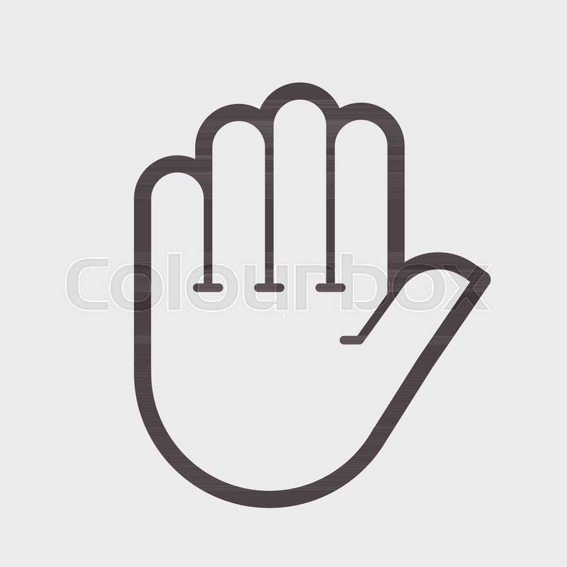 Hand Shake Gesture Symbol Stop Clean Hands Attention Vector