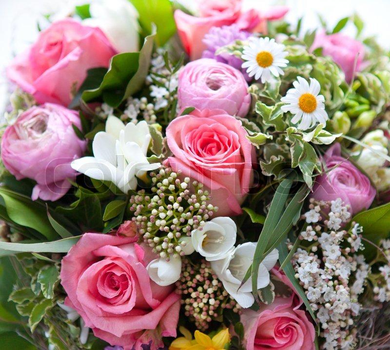 Ultramoderne Farverige forår blomster buket   Stock foto   Colourbox LV-91