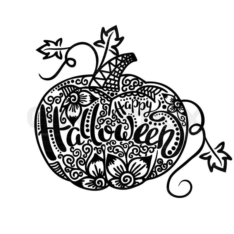 Happy halloween pumpkin template lettering vector illustration happy halloween pumpkin template lettering vector illustration stock vector colourbox maxwellsz